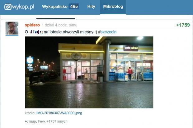 O pierwszym sklepie mięsnym przy stacji paliw poinformował jeden z użytkowników serwisu Wykop.