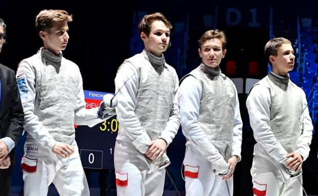 Srebrna drużyna mistrzostw Europy juniorów.
