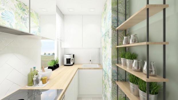 Niewielka Kuchnia Z Roślinnymi Motywami Serwis Dom I