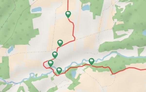 Kliknij na mapę, aby zapoznać się z przebiegiem szlaku