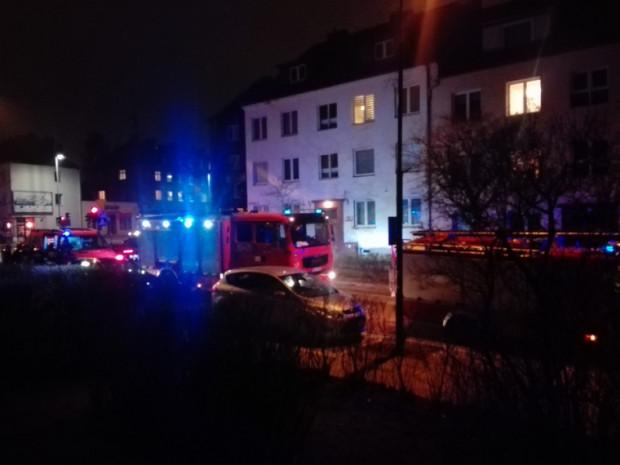Akcja straży pożarnej w aptece przy ul. Kościuszki.