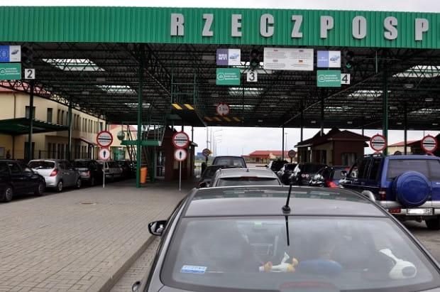 Przejście graniczne w Mamonowie między Polską a Obwodem Kaliningradzkim, czyli Rosją.
