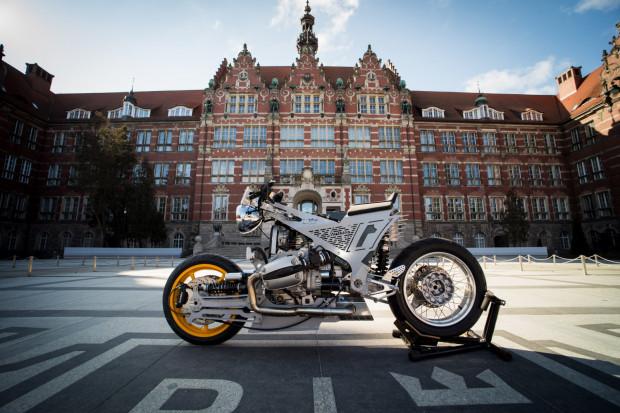 Motocykl naukowca z Politechniki Gdańskiej zdobył II miejsce na Mistrzostwach Polski w Budowaniu Motocykli Customowych.