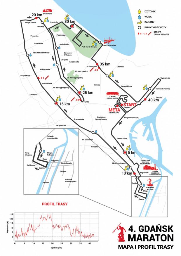 Trasa niedzielnego maratonu.