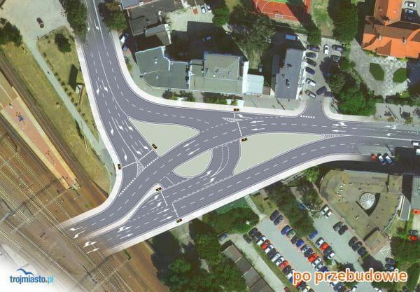 Po przebudowie skrzyżowanie ma być bezpieczniejsze, za to kierowcy staną na światłach, a droga rowerowa skończy się na chodniku.