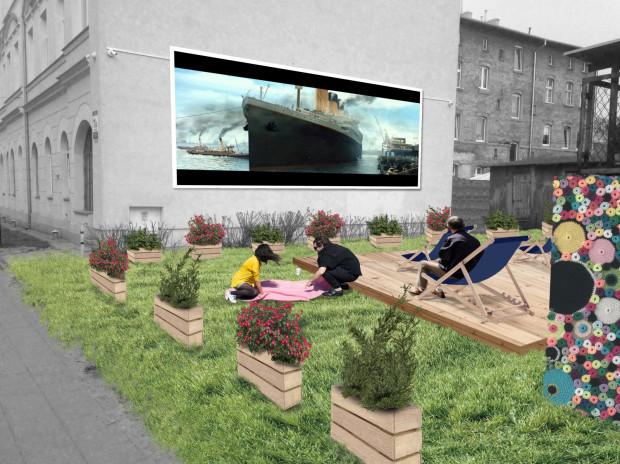 Wizualizacja Filmowego Ogrodu na Bliskiej - przestrzeni poświęconej sztuce i rozwijaniu świadomości na temat roślin w formie różnorodnych warsztatów.