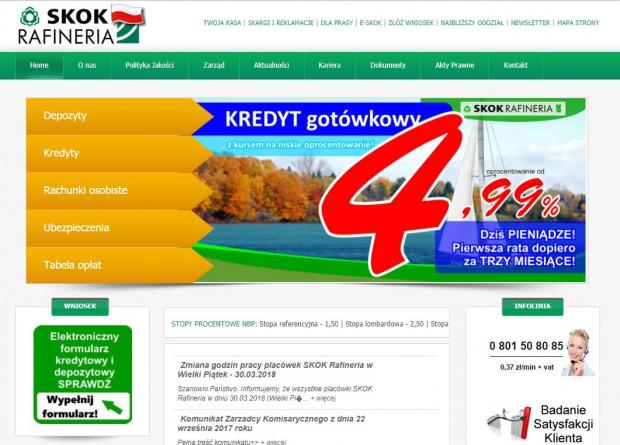 Przez lata SKOK Rafineria stworzyła sieć 19 oddziałów wsiedmiu województwach.