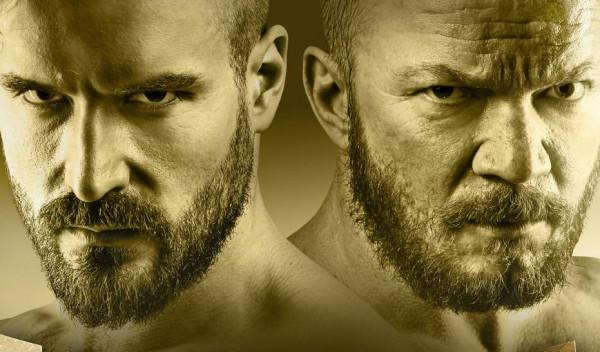 """""""Klatka"""" to historia dwóch rywalizujących ze sobą zawodników MMA, Tomasza (Stramowski) i Marka (Lubos)."""