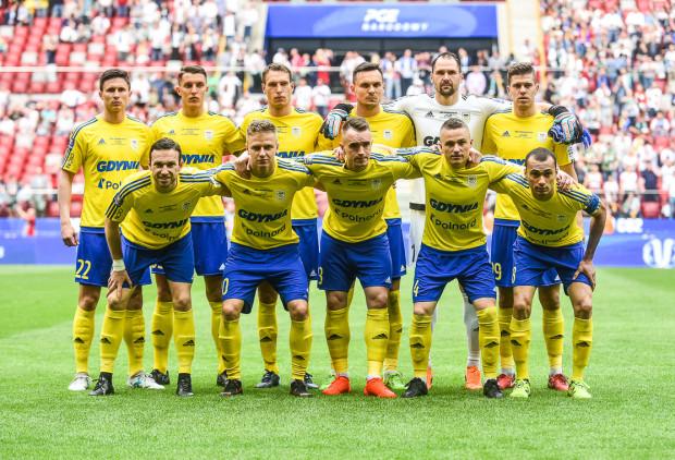 """Wyjściowa """"11"""" Arki Gdynia na ostatni finał Pucharu Polski. W niej tylko czterech piłkarzy, którzy mają ważne kontrakty na kolejny sezon."""