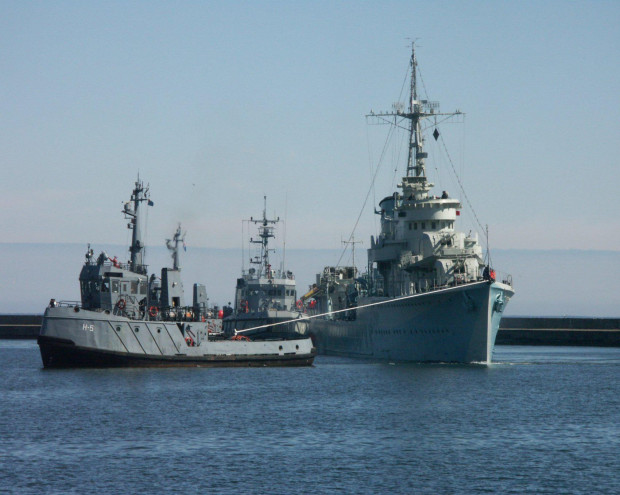 Wyjście ORP Błyskawicy w morze, na uroczystą paradę z okazji 100-lecia odzyskania niepodległości, najprawdopodobniej będzie wyglądało tak.