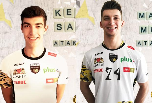 Kewin Sasak (z lewej) i Maciej Muzaj (z prawej) dołączyli do Trefla.