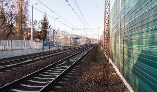 """Obecnie odcinek między Gdańskiem a Tczewem jest """"wąskim gardłem"""" kolejowym na Pomorzu. Nz. tylko dwa tory na wysokości Oruni, z których korzystają zarówno pociągi regionalne, jak i dalekobieżne."""