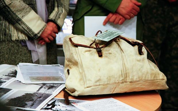 W tym plecaku z podwójnym dnem Mieczysława Pobłocka przeniosła przez linię frontu plany umocnień hitlerowskich.