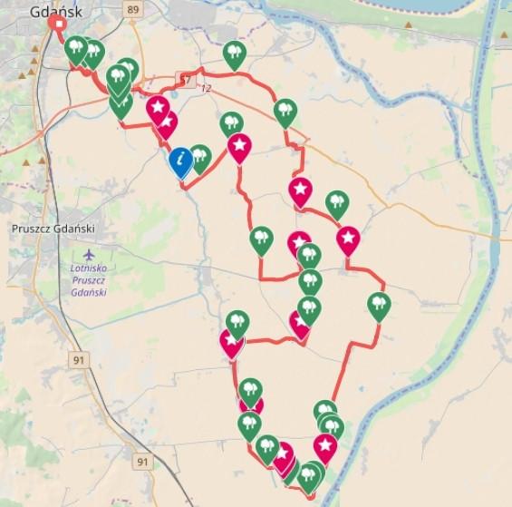 Kliknij na mapę i prześledź naszą trasę / ściągnij ślad GPS
