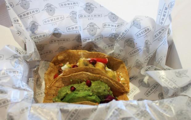 2 razy taco - wege i chili con carne.