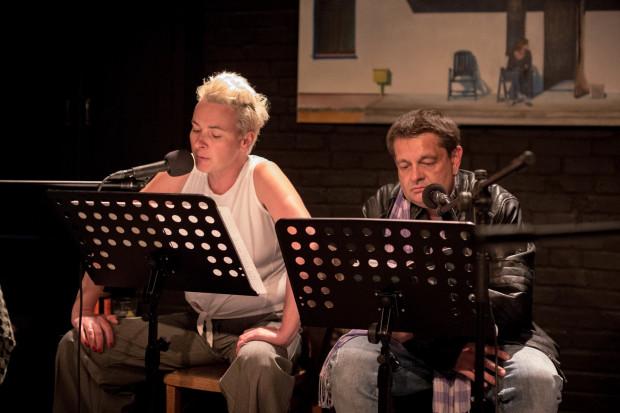 """Tekst monodramu """"Solo"""" Andrzeja Stasiuka przeczytali Sylwia Góra-Weber i Adam Nalepa - założyciele Teatru BOTO."""