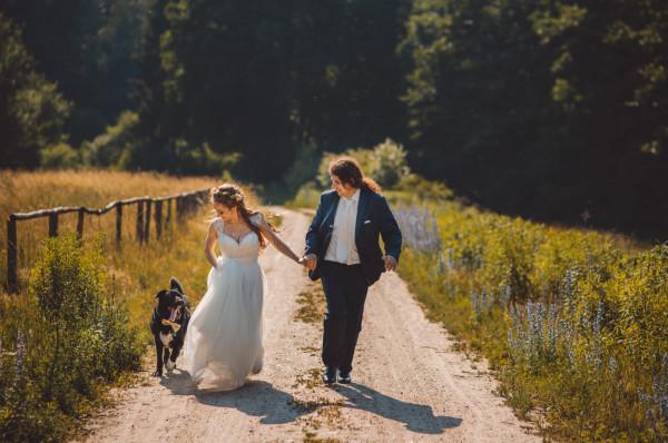 Kryterium wyboru sali ślubnej Klaudyny i Tomka było dopuszczenie obecności psa.