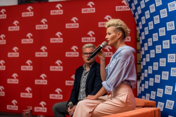 Jedną z gwiazd, z którymi spotkania odbywały się w Państwowej Galerii Sztuki, była Małgorzata Kożuchowska, która później poprowadziła Galę Festiwalu.