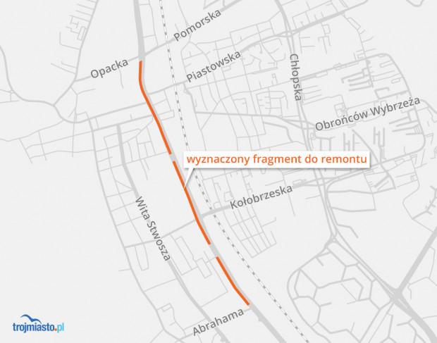 1,9-kilometrowy fragment al. Grunwaldzkiej objęty remontem.