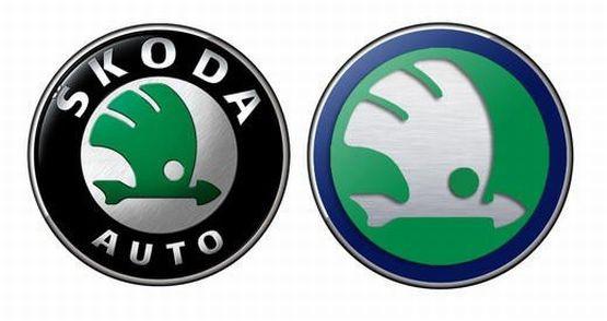 Obecne (po lewej stronie) i nowe logo Skody. - Jest o klasę lepsze - przekonują menedżerowie czeskiej firmy.