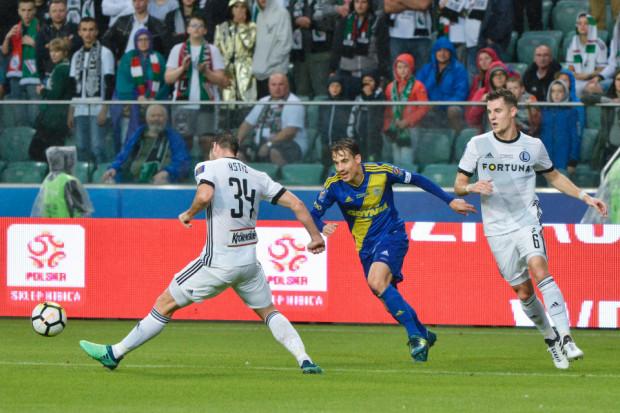 Goran Cvijanović nie bał się dryblingów podczas meczu z Legią.