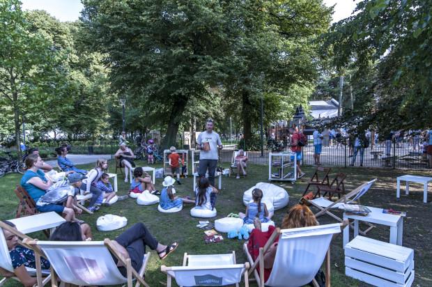 Po spotkaniach z autorami można było odpocząć w Parku Książki (park Północny), gdzie dla najmłodszych przygotowano animacje i zajęcia związane z literaturą.