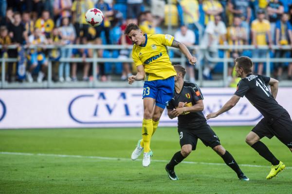 Damian Zbozień strzelił honorowego gola dla Arki Gdynia w przegranym meczu z Koroną w Kielcach.