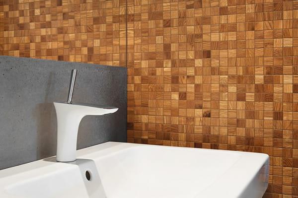 Spośród mozaiki imitującej drewno możemy wybierać duże lub drobniejsze wzory.