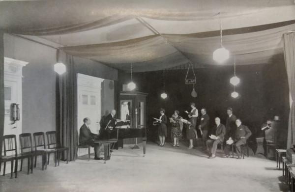 Nagranie jednej z audycji, 1927 r.