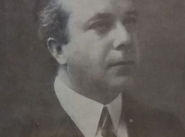 Otto Selberg, kapelmistrz orkiestry gdańskiego radia, 1927 r.