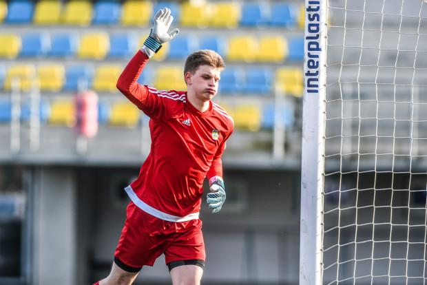 Kacper Krzepisz debiucie w pierwszej drużynie Arki Gdynia w oficjalnym meczu zachował czyste konto.