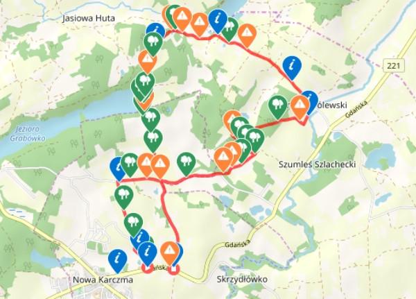Mapa przebiegu szlaku /ściągnij ślad GPS
