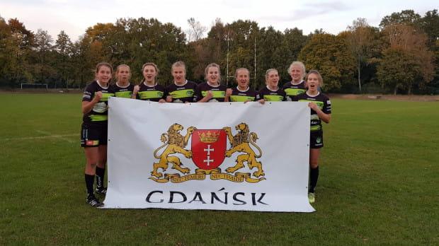 Biało-Zielona Ladies Gdańsk podczas turnieju w Warszawie.