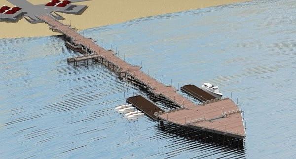 Wizualizacja rozbudowy mola w Brzeźnie.