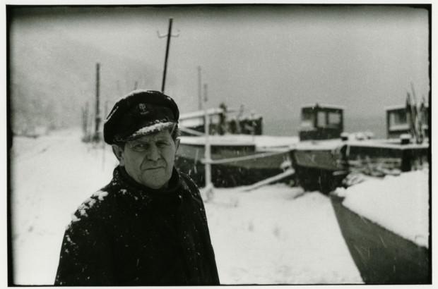 Nestor orłowskich rybaków Henryk Cebula, styczeń 1983 r.