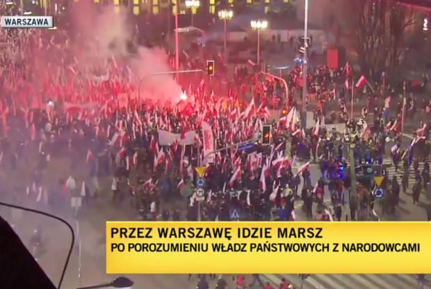 Ponad 200 tys. osób wzięło udział w największym dziś w Polsce marszu, który odbył się na ulicach Warszawy.