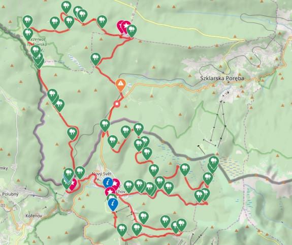 Kliknij na mapę i prześledź naszą trasę