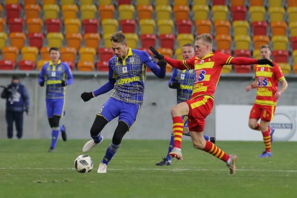 W meczu z Jagiellonią Frederik Helstrup zagrał tylko 17 minut. Duńczyk był jak dotąd podpora defensywy Arki w 46 meczach ekstraklasy.