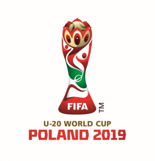 Logotyp piłkarskich mistrzostw świata U-20, które w 2019 roku rozegrane zostaną Polsce, w tym w Gdyni.