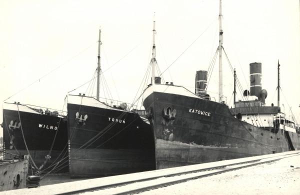 Pierwsze statki ŻP, fot. Henryk Poddębski, 1933 r.