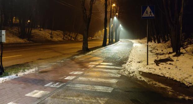 Oświetlenie trasy ma pomóc rowerzystom jeżdżącym po zmroku.