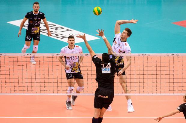Piotr Nowakowski punktował w sobotę w ważnych momentach meczu z MKS.
