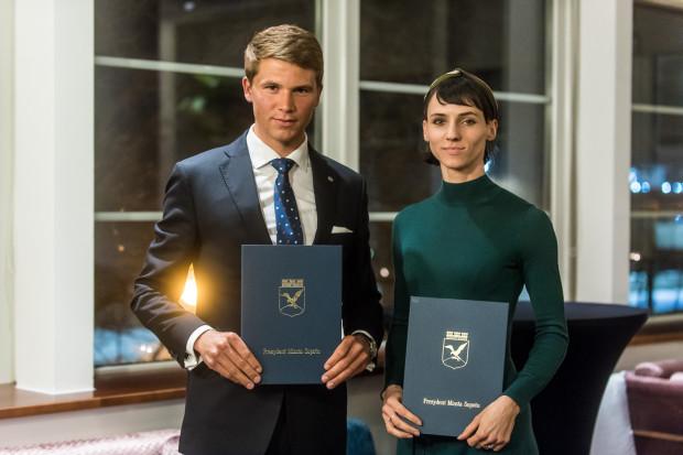 Najlepsi sportowcy Sopotu 2018: Anna Kiełbasińska i Paweł Tarnowski.