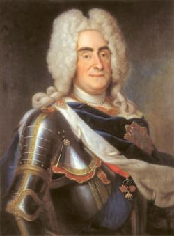 Król August II Mocny wciągnął Polskę do fatalnej dla niej w skutkach wojny północnej. Gdańsk musiał opłacać się armiom Szwecji i Rosji, które w jej ramach walczyły ze sobą na terenie Polski. Portret króla autorstwa Louisa de Silvestre