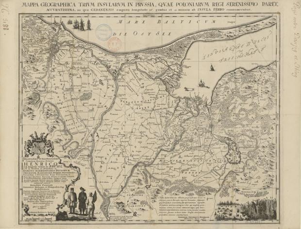 W XVIII w. miejski garnizon musiał wielokrotnie interweniować na terenach leżących na południe i wschód od Gdańska, by odganiać spod miasta maruderów lub regularne oddziały. Mapa z 1753 r.