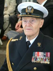 Romuald Nałęcz-Tymiński już w mundurze admiralskim.