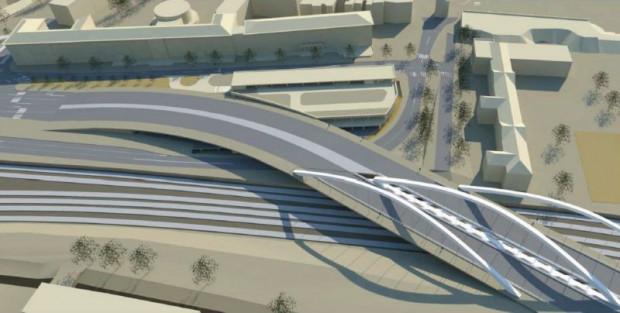 Wizualizacja budowanego wiaduktu.