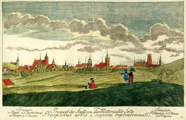 Gdańsk w drugiej połowie XVIII wieku na rysunku Matthaeusa Deischa.