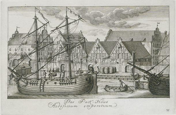 Stara Pakownia, rycina Matthaeusa Deischa 1761-1765