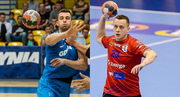 Robert Kamyszek (z lewej) to jeden z dwóch zawodników Arki zmagających się z infekcją. Z kolei Adrian Kondratiuk (z prawej) ostatni mecz Wybrzeża zakończył już na rozgrzewce.